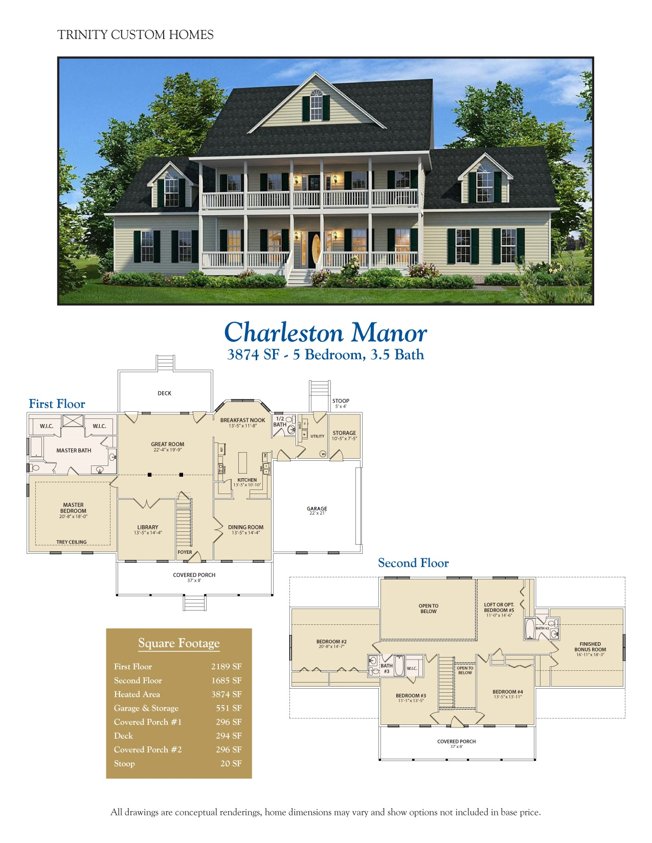 floor plans trinity custom homes georgia view brochure