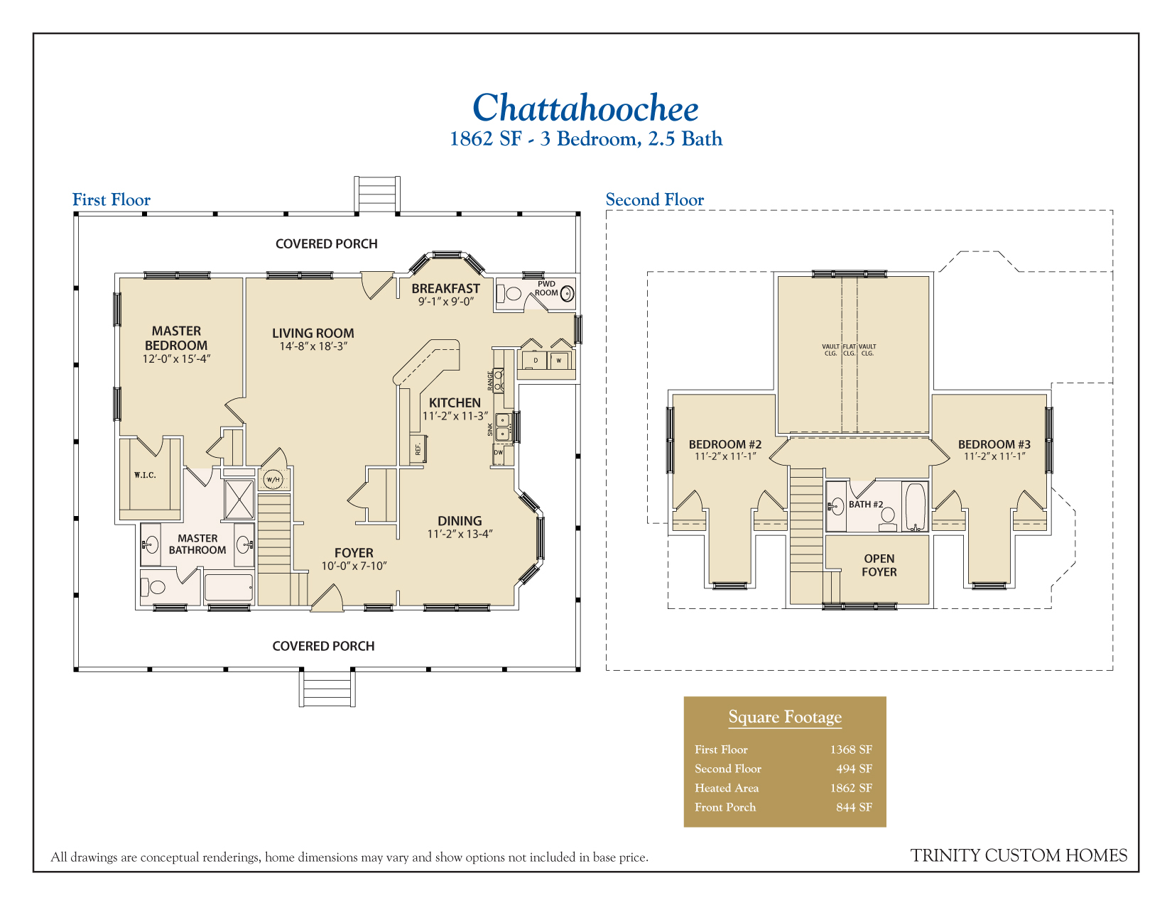 Floor plans trinity custom homes georgia for Chattahoochee floor