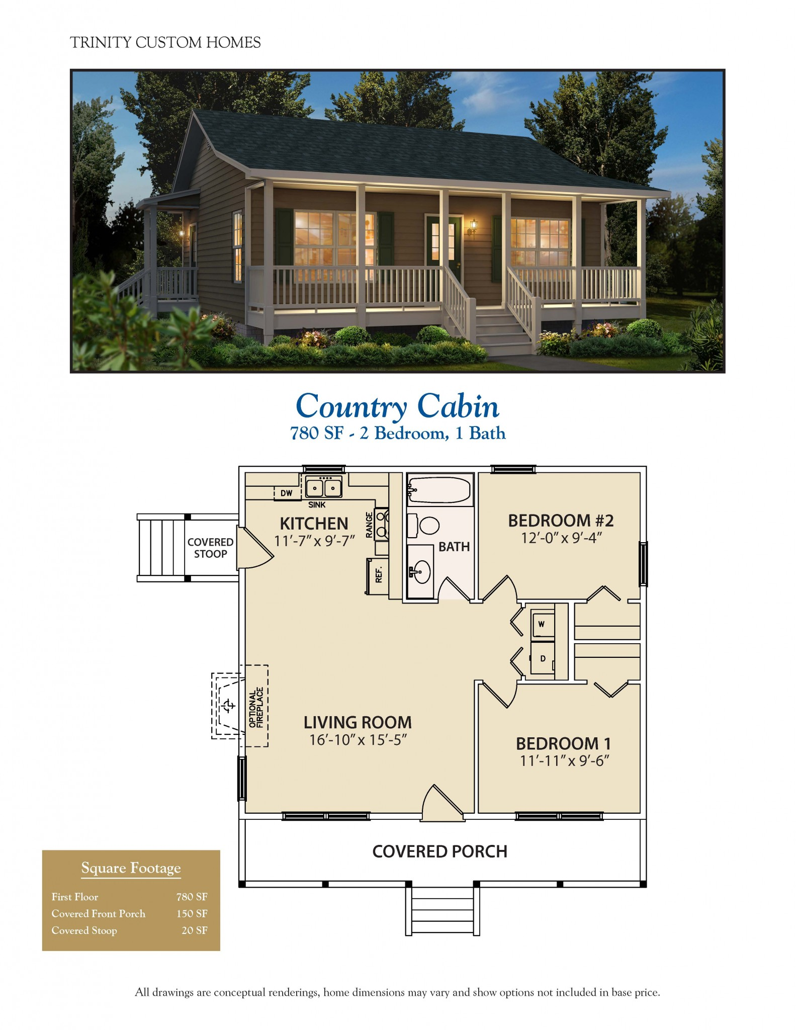 Floor plans trinity custom homes georgia for Log cabin home plans georgia