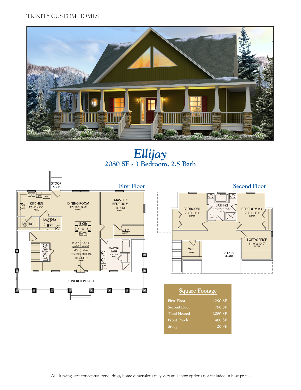 Floor plans trinity custom homes georgia for Custom home blueprints