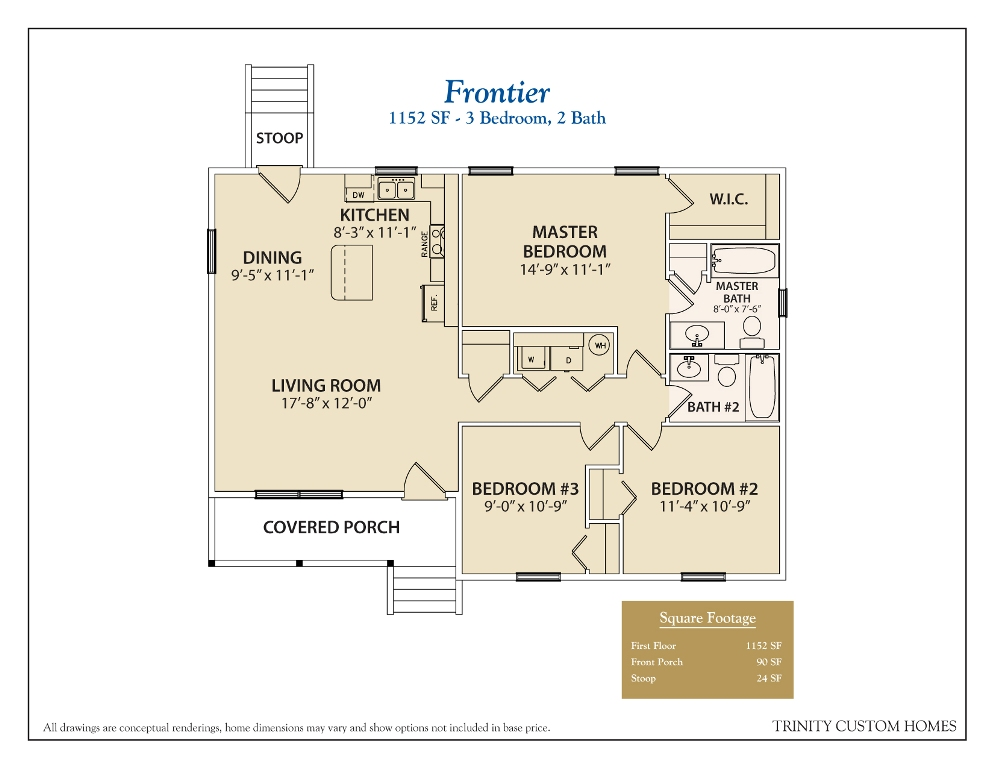 Floor plans trinity custom homes georgia for Frontier plans