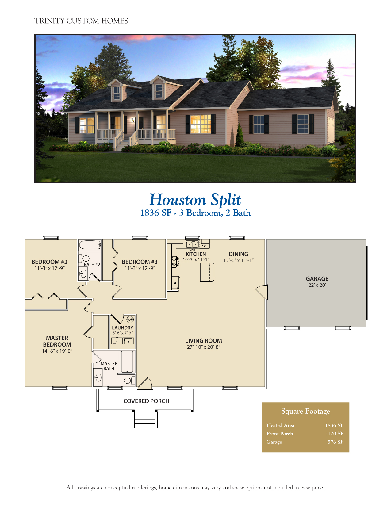 Floor plans trinity custom homes georgia for Houston custom home builders floor plans