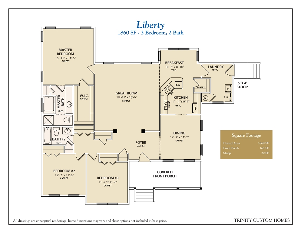 Floor plans trinity custom homes georgia for Custom home floor plans