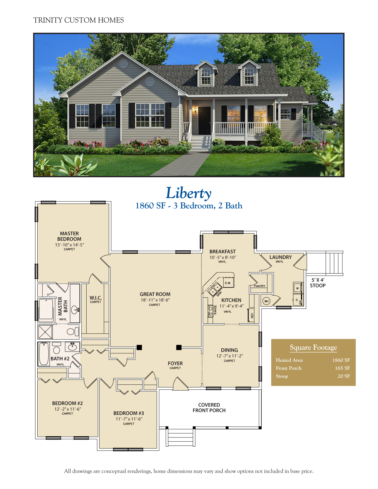 Floor plans trinity custom homes georgia for Custom built homes floor plans
