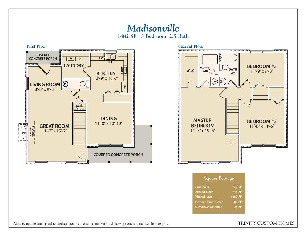 28 trinity homes floor plans floor plans trinity - Triplex house plans cost cutting living ...