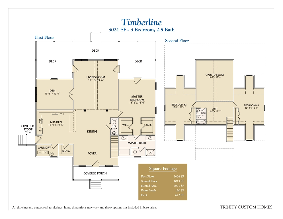 Floor plans trinity custom homes georgia for Timberline homes floor plans