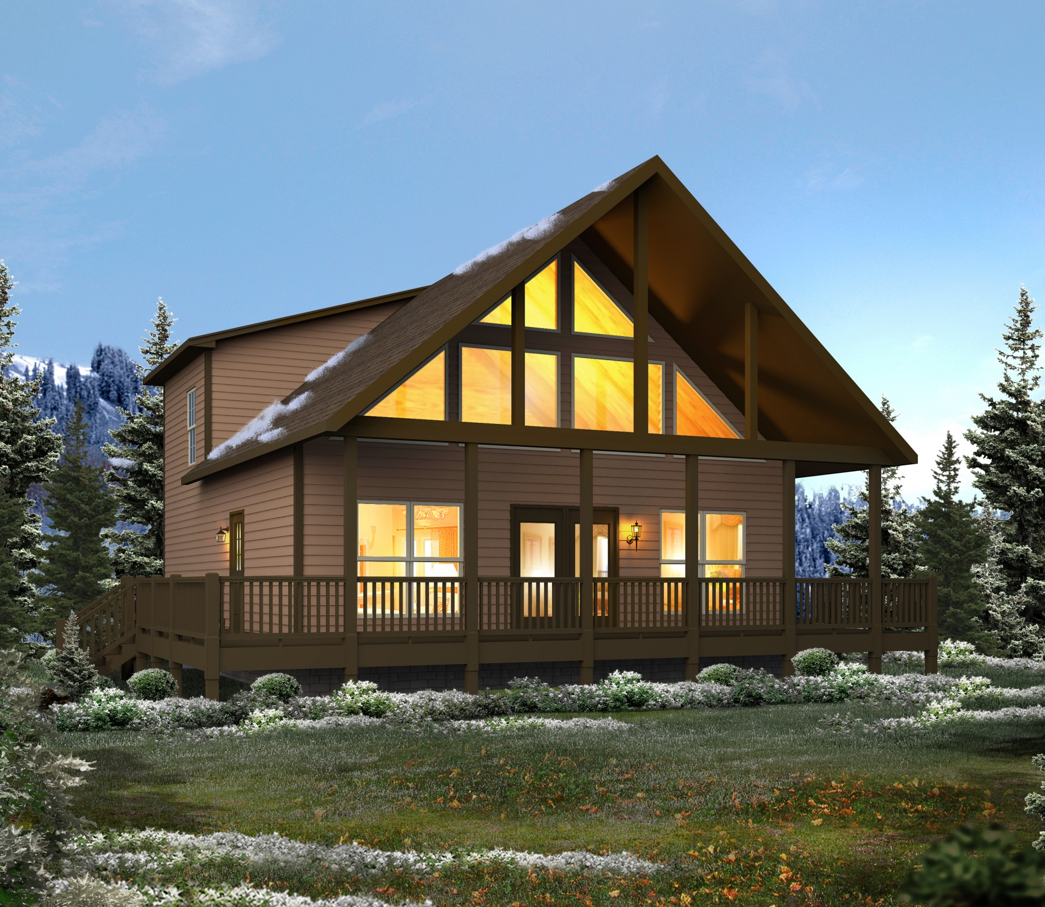Browse home plans trinity custom homes for Chalet house plans