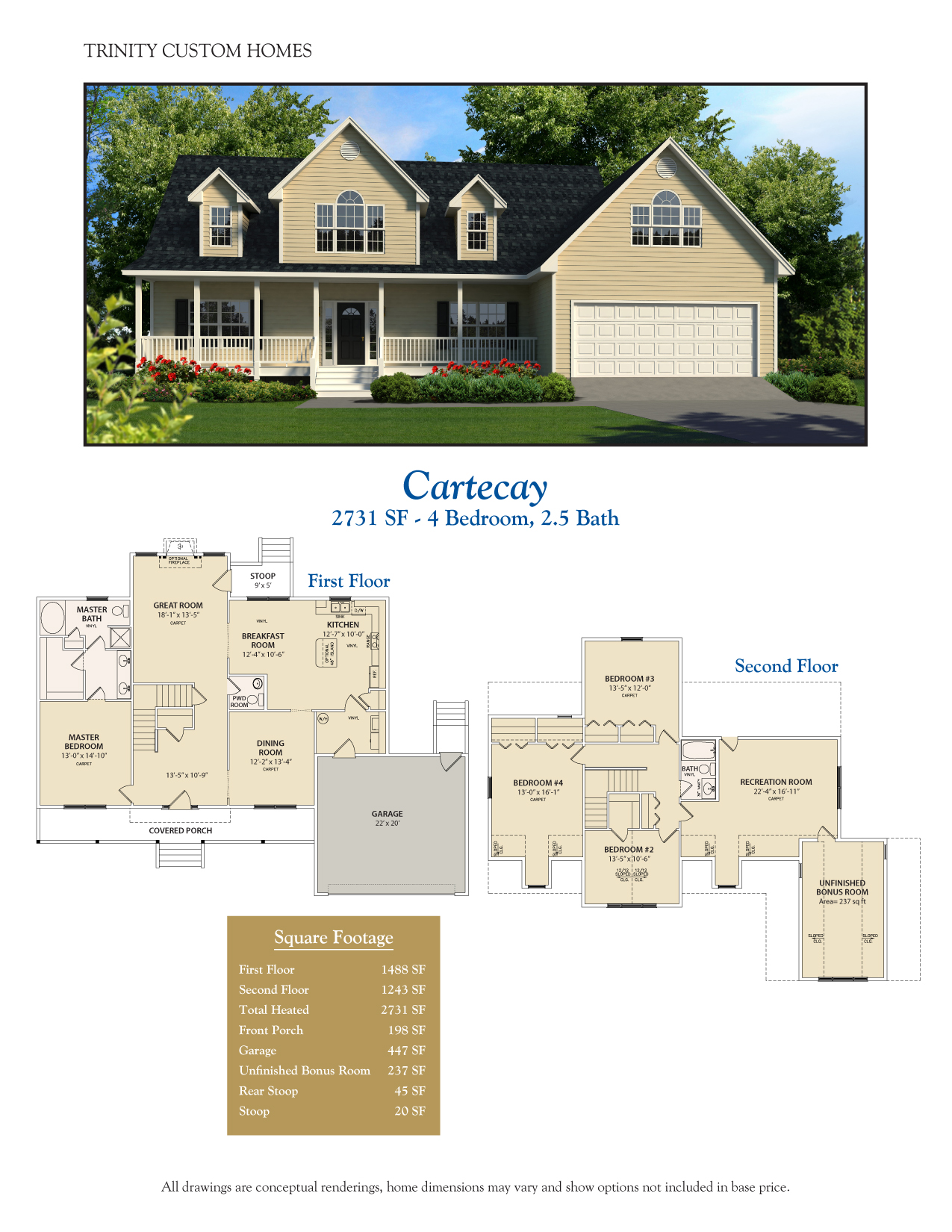 Cartecay welcome to trinity custom homes for Trinity home builders