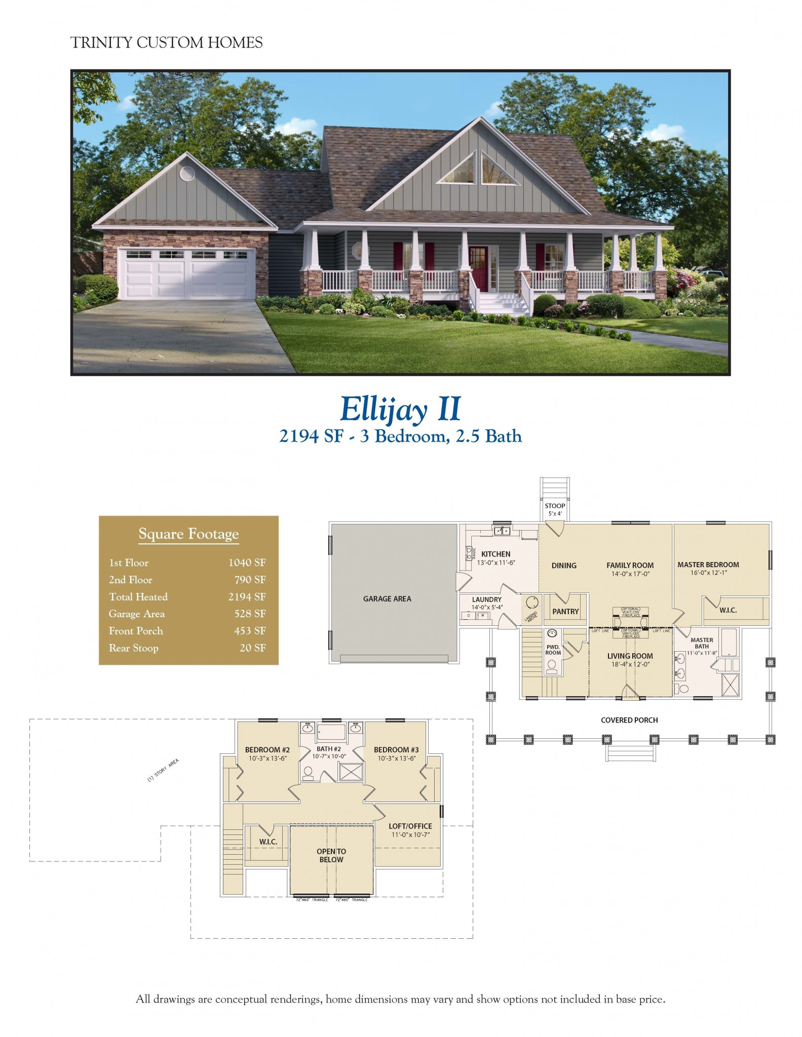 Ellijay ii welcome to trinity custom homes for New custom home plans