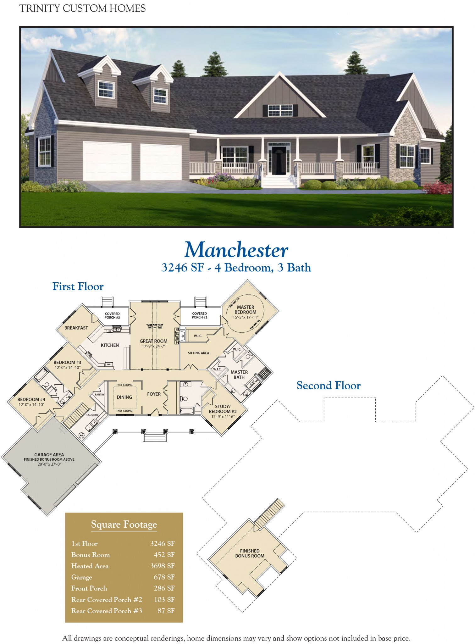 Manchester welcome to trinity custom homes for Trinity house plans