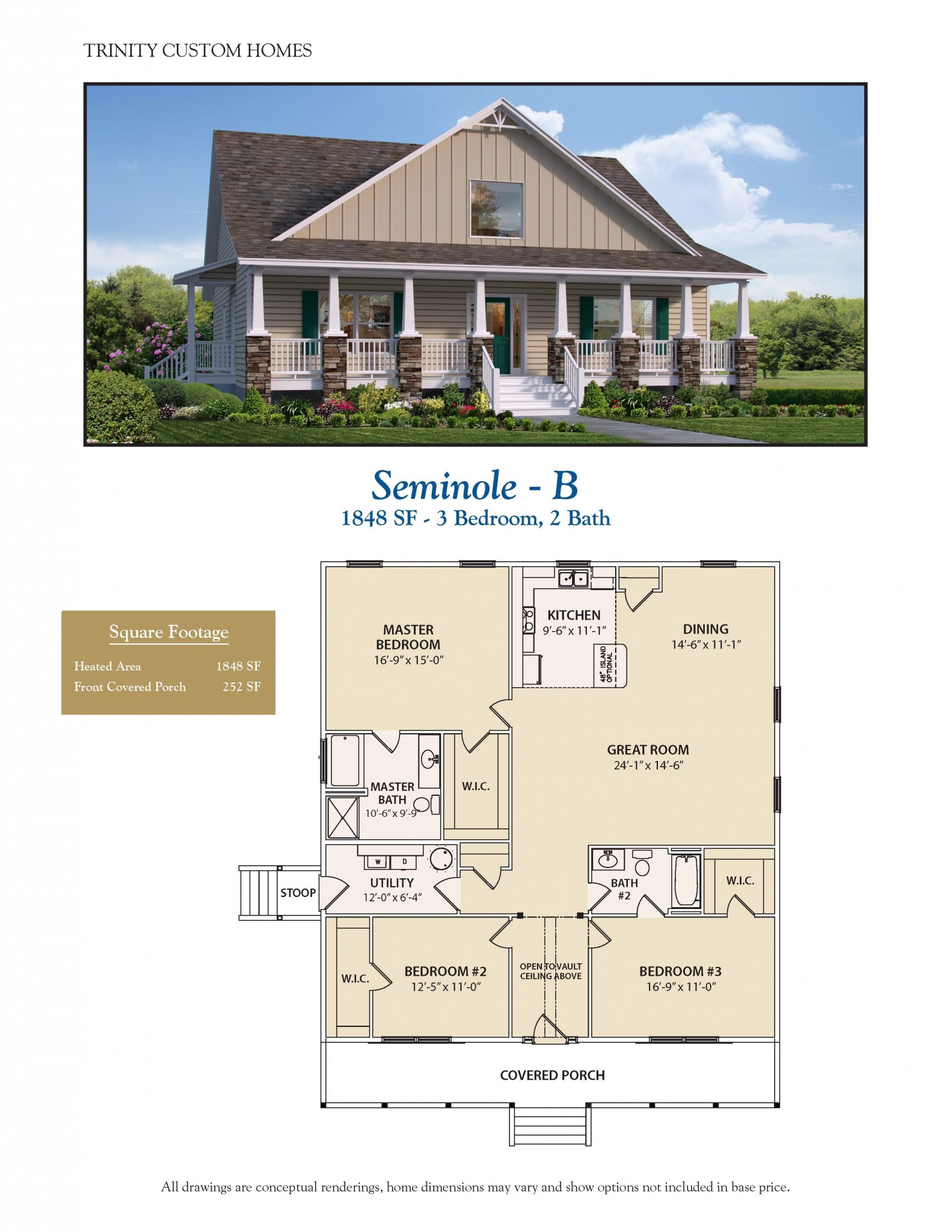 Seminole b welcome to trinity custom homes for Trinity house plans