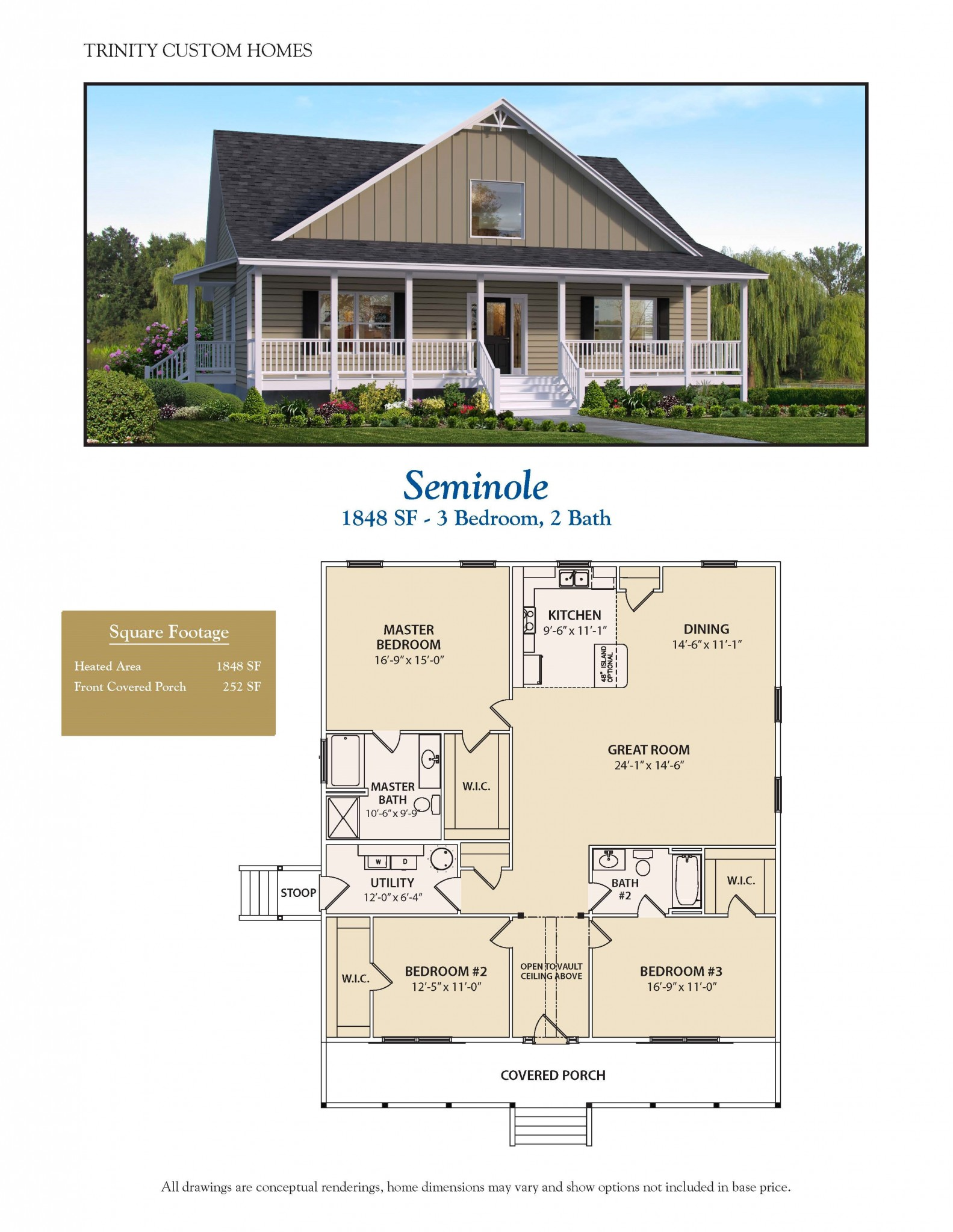Seminole welcome to trinity custom homes for Trinity house plans
