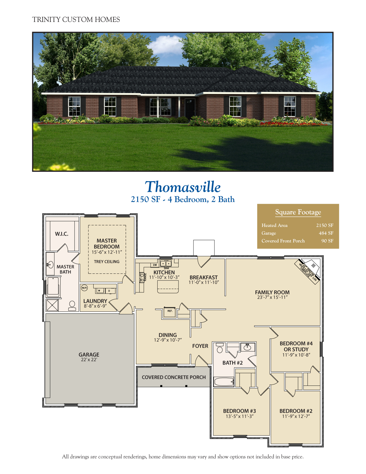 Thomasville welcome to trinity custom homes for Trinity house plans