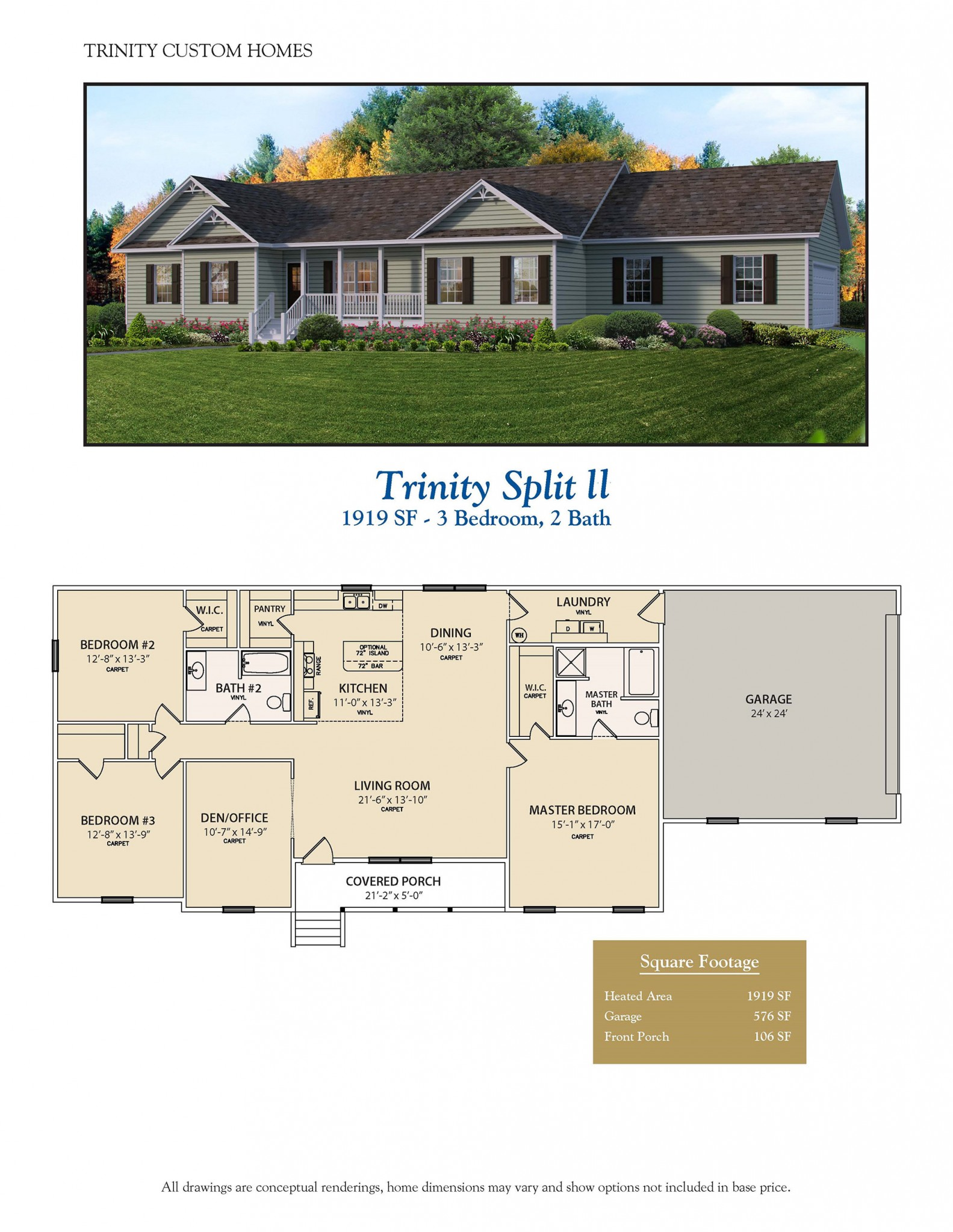 Trinity split ii welcome to trinity custom homes for Trinity house plans