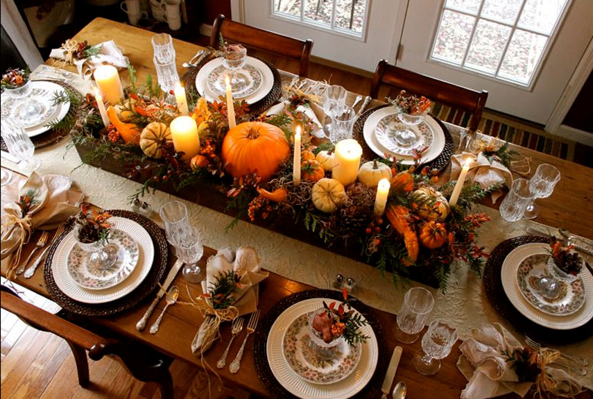 14 Ways To Decorate Your Thanksgiving Table