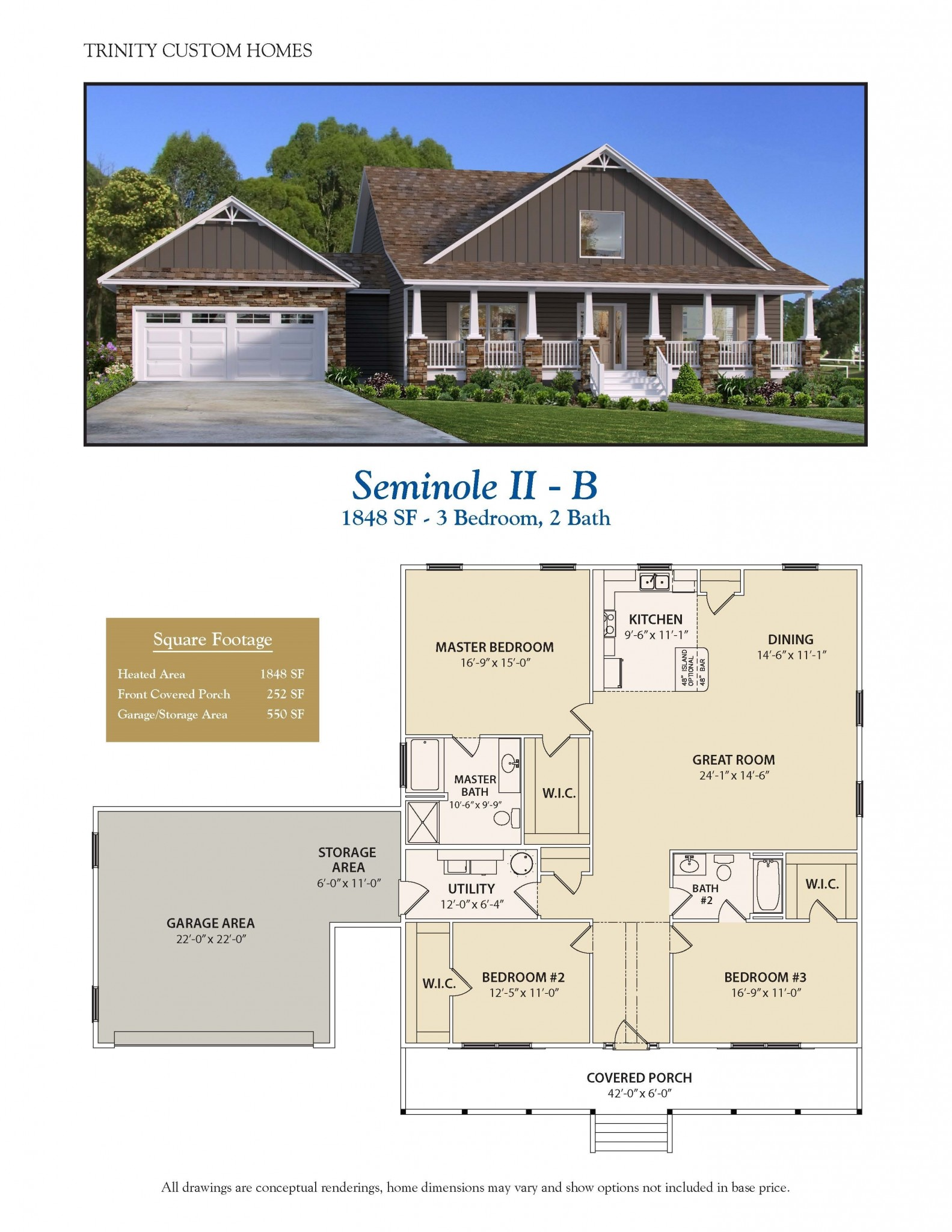 Seminole ii b welcome to trinity custom homes for Trinity house plans