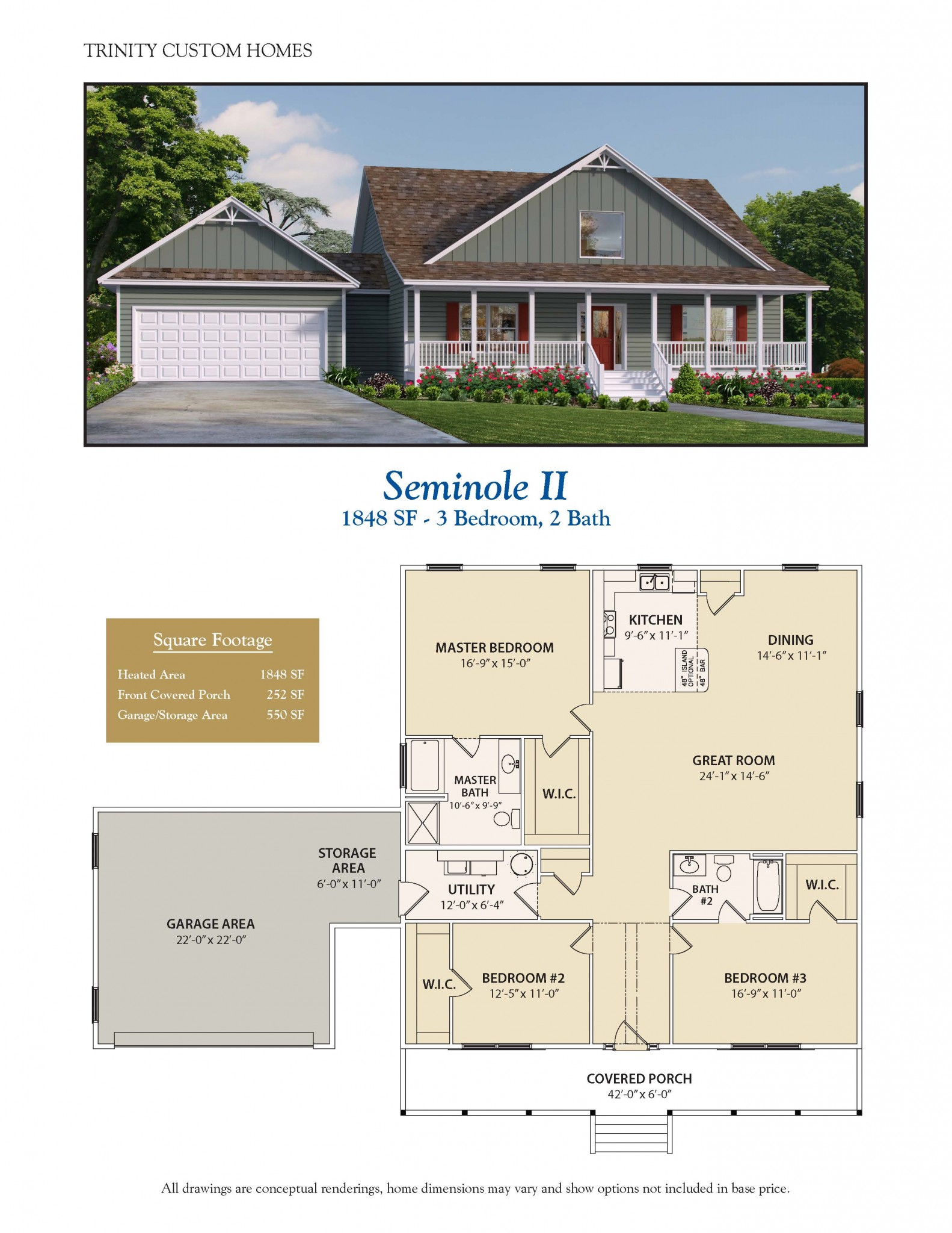 Seminole ii welcome to trinity custom homes for Trinity house plans